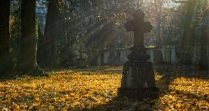 Friedhof_Herbstbild_Kreuz